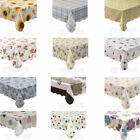 Warterproof Vinyl Tablecloth with Flannel Backed Rectangle Oblong 12 Patterns