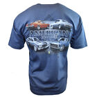 FORD MUSTANG Mens Tee T Shirt American Muscle Car Shelby Vintage Racing Logo NEW image