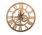 30cm Round Numerals Clock Acrylic Modern Gold For Steampunk Home Wall Decor