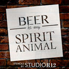 Beer Is My Spirit Animal Stencil by StudioR12 | Bar Word Art - Reusable Mylar...