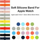 Replacement Soft Silicone Band Strap For Apple Watch 1/2/3 4