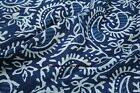 New Indian Hand Block Print 100% Cotton Indigo Fabric Natural Printed Garments