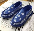 BANDANA HOUSE SHOES PAISLEY  ROYAL / WHITE ( RYWH ) MEN'S