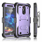 For LG K30/Xpression Plus Case With Built in Screen Protector Clip Holster Cover
