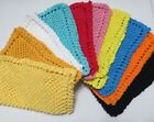 washcloth knitting pattern - Grandma's Vintage Pattern Dish/Wash Cloths - Hand Knitted - Cotton - Sets of 2