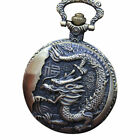 Vintage Retro Pocket Watch Animal Pendant Vintage Quartz Necklace Steampunk