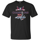 WASHINGTON CAPITALS 2018 STANLEY CUP CHAMPIONS CHAMPS Cotton T-Shirt 17