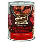 Merrick Grain Free Big Texas Steak Tips Dinner Canned Dog Fo
