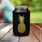 Gold Pineapple Beer Bottle Tropical Can Holder Koozie Hawaiian Koozy Cooler New