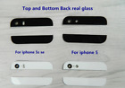 For iPhone 5 5S SE New Back Cover Case Up and Down Edge Glass Replacement Part