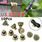 0.3mm Brass Misting Nozzles Water Mister Sprinkle For Cooling System 0.012 Inch