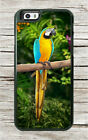 BIRD PARROT BLUE AND GOLD MACAW CASE FOR iPHONE 8 or 8 PLUS -ndr5X