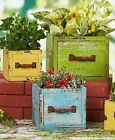 Wood Planter Boxes Rustic Box Deck Flower Herb Garden Holder Outdoor Patio Pot