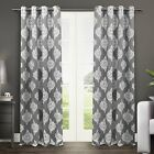 Exclusive Home Medallion Blackout Window Curtain Panel Pair with Grommet Top