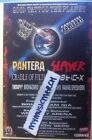 PANTERA / SLAYER / CRADLE OF FILTH - UK TOUR 2001 original advert fridge magnet