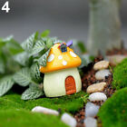 EP_ Mushroom Miniature DIY Craft Pot Fairy Mini Landscape Dollhouse Garden Decor