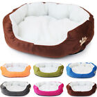 EP_ Pet Basket Bed Fleece Soft Comfy Fabric Washable Puppy Cat Cosy Dogs Cats Ex