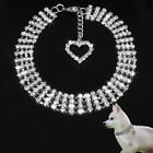 EP_ Bling Rhinestone Dog Collars Puppy Necklace with Heart Charm Small Dogs Good
