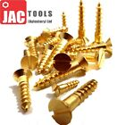 BRASS CSK WOOD SCREWS SLOTTED COUNTERSUNK HEAD ALL GAUGES 2 3 4 5 6 7 8 10 12