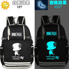 One Piece Trafalgar Law Luminous Backpack Schoolbag USB charging Port Laptop Bag