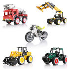 Metal DIY Kids Toy Assembly Model Kit Building Blocks Construction Vehicle Toys