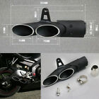 Motorcycle 38-51mm Clamp Two Hole Dual Three-outlet Exhaust Muffler Tail Pipe