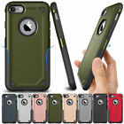 Rugged Shockproof Rubber Armor Hard Back Case For Apple iPhone X 8 7 6s 6 Plus
