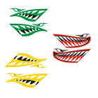 2x Big Shark Teeth Mouth Decals Funny Stickers for Kayak Boat Canoe Dinghy Truck