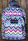 JANSPORT Authentic BIG STUDENT Backpack DAY OF THE DEAD Chevron Pink Muertos N