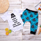 Newborn Baby Boys Star Wars Cotton Top Romper Bodysuit Pants Outfits Clothes UK