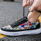 Men Boys Fashion Light Lace-Up Canvas Tennis Casual Athletic Sneakers Shoes