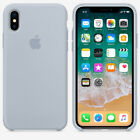 Original Silicone/Leather Case For iPhone X XS Max 6 7 8 Plus Genuine OEM Cover