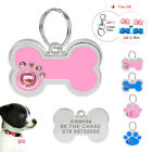 Personalized Bling Dog ID Tag Engraved Puppy Pet ID Name Collar Tags Bone/Paw