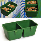 Durable Plastic Bird Parrot Feeder Bowl Water Food Container Hanging Pet Cage