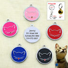 Rounnd Personalised Dog Tags ID Custom Engraved Pet Puppy Cat Name for Kitten