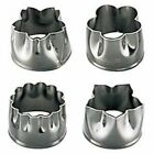 SHIMOTORI Stainless Steel Flowers Cookie Cutters (Set of 4)
