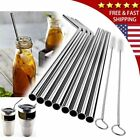 Metal Straws Stainless Steel Drinking Straws Smoothie Reusable For Yeti Rtic US