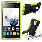 Shockproof Armor Hybrid Rubber Case Cover + Free Tempered Glass For Lenovo Phone