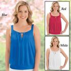 Square Neck Sleeveless Top with Built in Bra