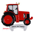 MAXORA Red Tractor Personalized Christmas Ornaments Home Decoration