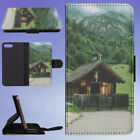 BARN CABIN CHAPEL FLIP WALLET CASE FOR APPLE IPHONE PHONES, used for sale  Shipping to Canada