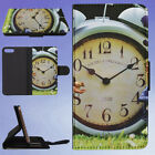 BLUE BELL ALARM CLOCK FLIP WALLET CASE FOR APPLE IPHONE PHONES
