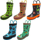Norty Waterproof Rubber Rain Boots for Kids - Boys & Girls - Toddlers & Big Kids