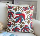 """18""""Vintage Floral Embroidered Boho Ethnic Cotton Sofa Throw Pillow Cushion Cover"""