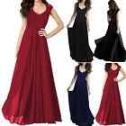 Women Chiffon Formal Evening Party Prom Lace Maxi Ballgown B
