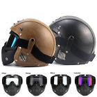 Four Season Adult Open Face Harley Helmet Part Vintage DOT Protector Outdoor MWT