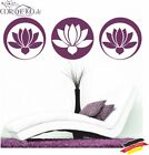 Lotusblume Feng Shui ●︎ Wandtattoo ●︎ Yoga Blumen Blüten Lotos Flower Wall Decal