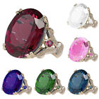 Huge Ruby Topaz Wedding Engagement Jewelry Woman's Gift Ring Size 5-12 Dreamed image