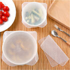 5PCS Silicone Wrap Clear Reusable Seal Cover Stretch Fresh Keeping Kitchen Tools