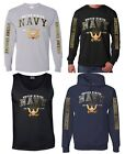 NEW! US NAVY Logo Est. 1775 Military Forces T-shirts Sweatshirts Tank Tops S-3XL